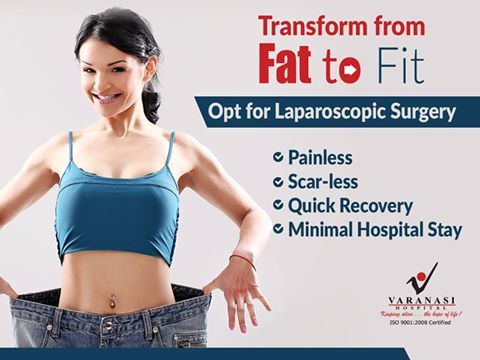 Laparoscopic surgery is the #safest way to transform from FAT to FIT. Dr. Manish Jindal is an experienced laparoscopic surgeon at Varanasi Hospital, who can help you overcome obesity through the painless & scar-less approach.