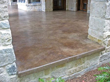 stained concrete floor cost calculator acid stain colors lowes patio porch can you countertops