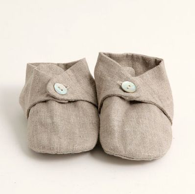 Linen Baby Shoes