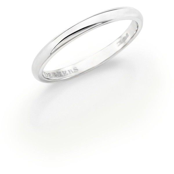 De Beers Classic Platinum Forever Wedding Band ($1,045) ❤ liked on Polyvore featuring jewelry, rings, apparel & accessories, platinum, de beers, wedding rings, wedding band jewelry, platinum jewelry and platinum ring