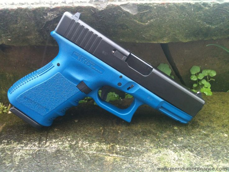 Blue Handgun Black and blue gun | 2...
