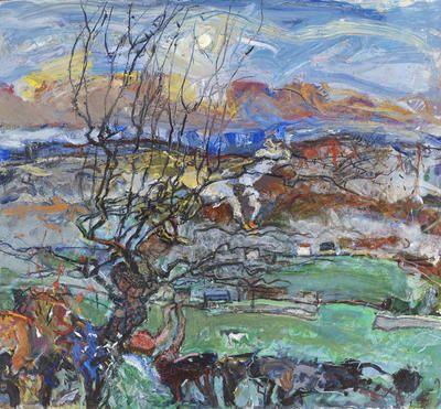 "Duncan Shanks, ""Moon Rise"" | acrylic on canvas | The Scottish Gallery UK"