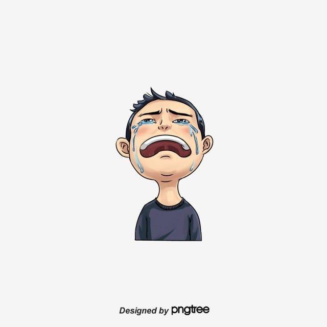 الطفل يبكي البكاء كرتون وجه يبكي حزين Png وملف Psd للتحميل مجانا Kartu Lucu Kartun Lucu