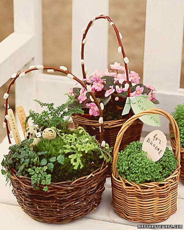 Miniature Gardens Easter Basket