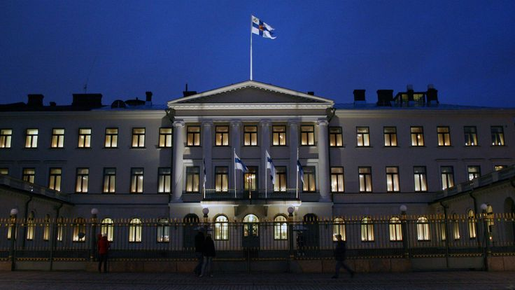 Presidentinlinna itsenäisyyspäivänä. Presidential residence in the Independence Day.