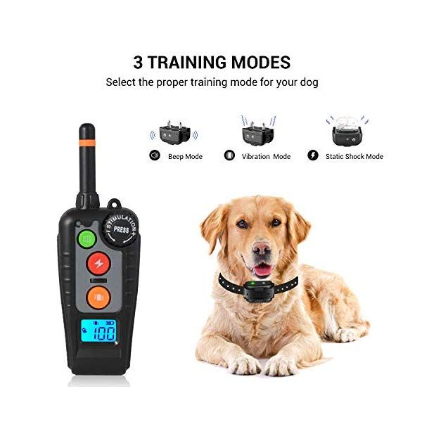 Holdog Rechargeable Dog Training Collar With 3 Training Modes