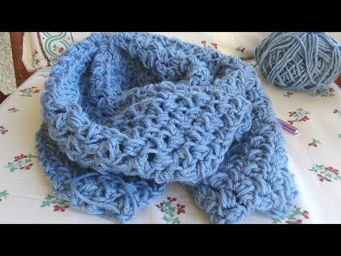 Beginner crochet  scarf!  Perfect first project!