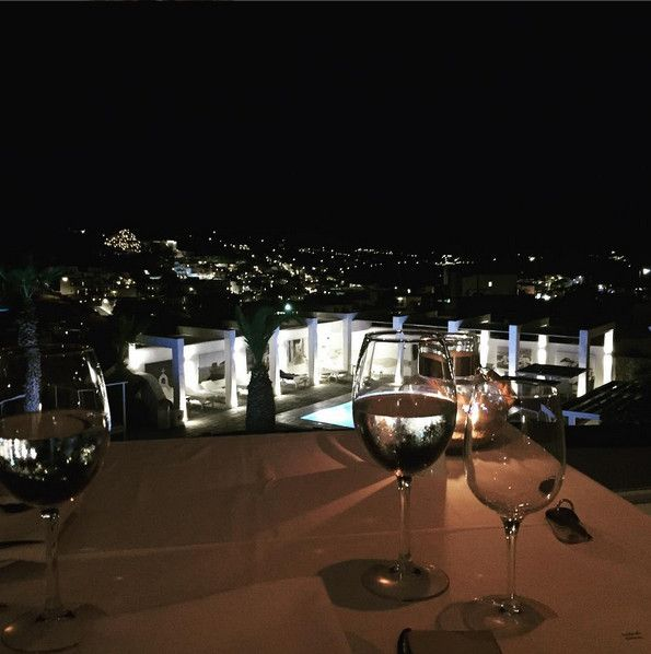 "We are enjoying ‪Mykonos‬ night air vistas at Thymare ‪‎Restaurant‬ of Palladium Boutique Hotel. Where will you be dining tonight? Photo credit : ""annamarco2005"" via Instagram"