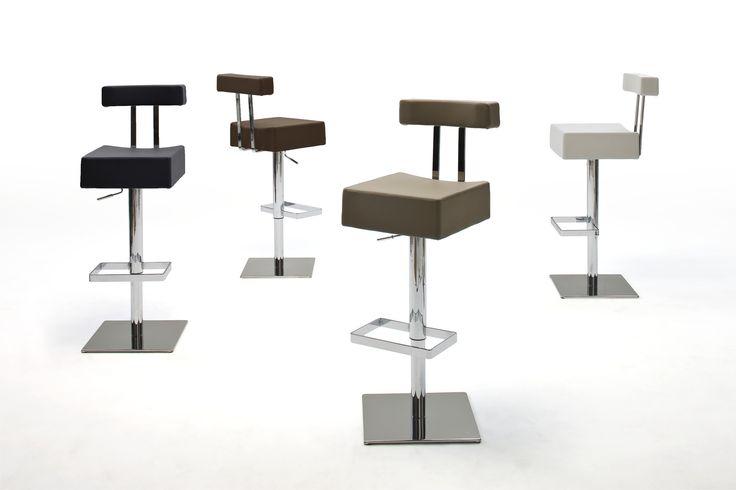 Barstuhl Fanta Barhocker 4 verschiedene Farbvarianten Material: Gestell:  verchromt Bodenplatte:  Edelstahl poliert ummantelt Sitz:  PU/ Lederoptik/ gepolstert Maße:...