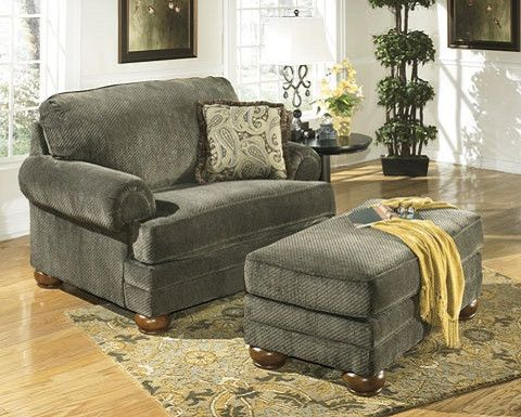 ashley furniture parcal estates basil living room collection chair and ottoman
