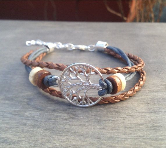 Levensboom armband Keltisch Boheemse armband Native American Tribal armband Ierse armband viking armband geïnspireerd