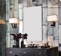 Ann Sacks Visage Subway Tile In Mirrored Finish If Only I Could Afford That My Powder Bath Style Drama Pinterest Bathroom Art Deco And