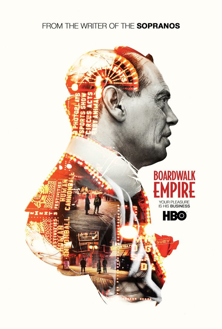 Poster design portfolio - Boardwalk Empire Poster Hbo Design Marcell Bandicksson Aka City Rain Design Via Digital Arts