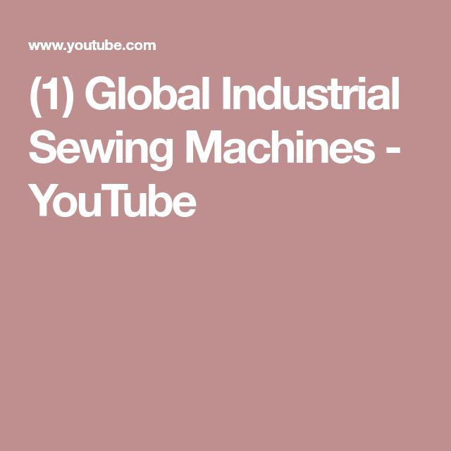(1) Global Industrial Sewing Machines - YouTube