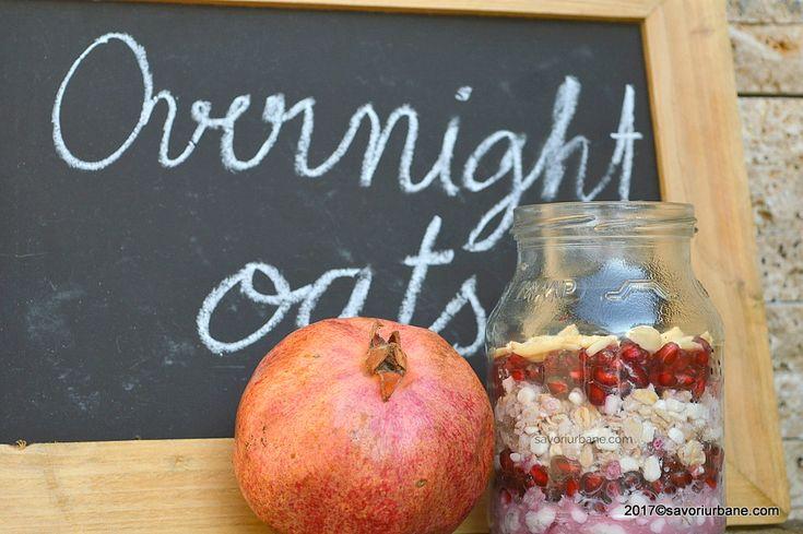 overnight oats cu branza perle migdale si rodie (2)