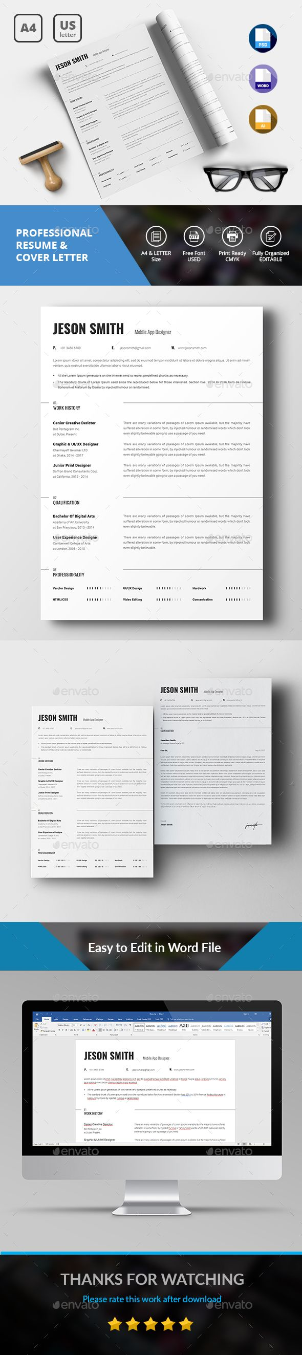 Simple ResumeCV Cover Letter Template 1238