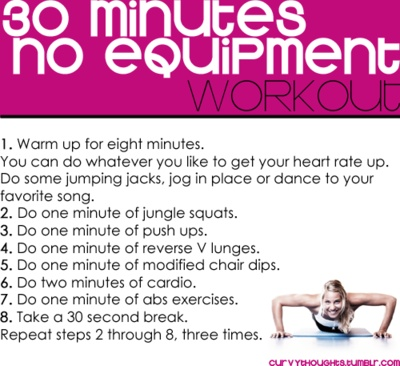 30 minutes no equipment workout