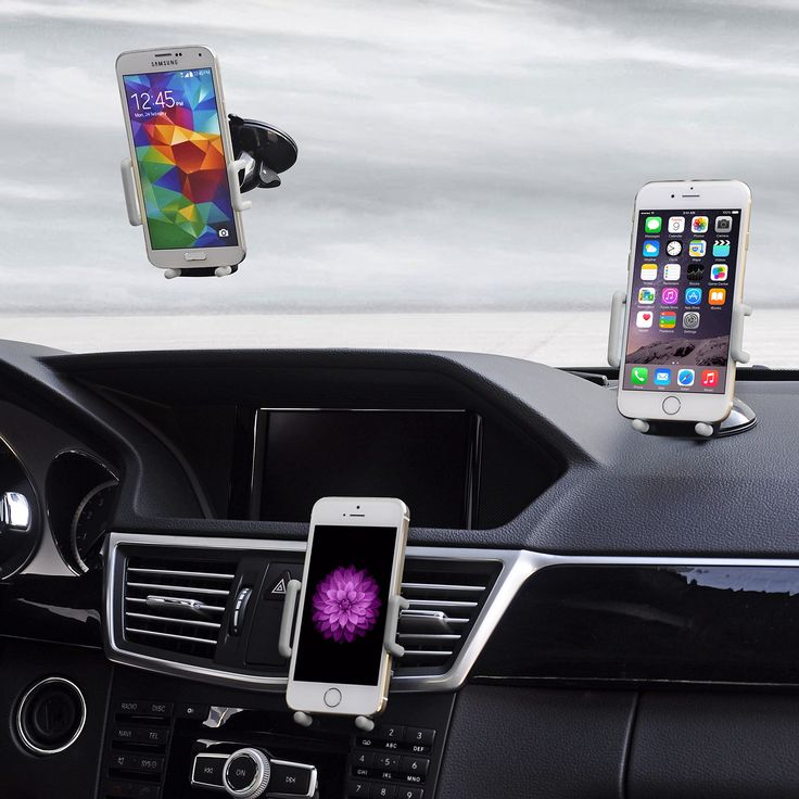 Best Car Phone Holder, Golden Colours Super 3 in 1 Universal Cell Phone Car Cradle & Mount Fits iPhone & Other Popular Brands - 3 Mounting Options - 360 Degree Rotation - A Perfect Gift for a Great Price. Universal car phone holder designed to accommodate all popular brands including iPhone 6, Samsung & LG - Large or small it fits them all. Car cell phone holder offers convenient 3-way mounting: In car air vent, on dash or window glass so you can position it based on comfort and the…