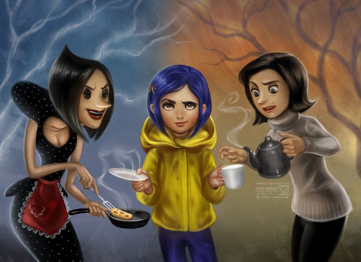 Coraline by daekazu.deviantart.com on @deviantART  (Awesome!)