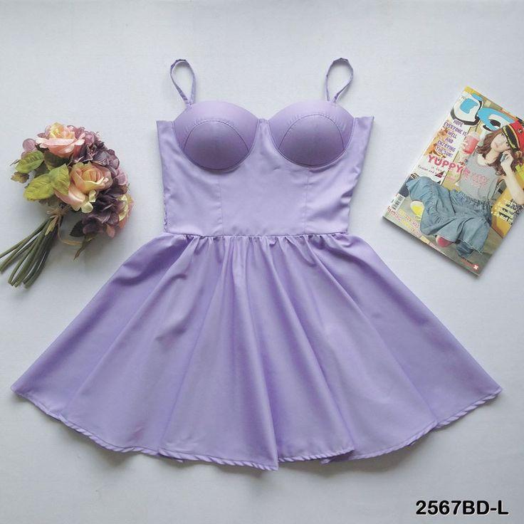 Lilac Bustier Dress