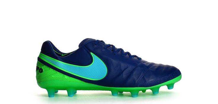 Botas de fútbol Nike Tiempo Legend VI AG-PRO - Azul Coastal / Verde Rage - Exterior pie derecho