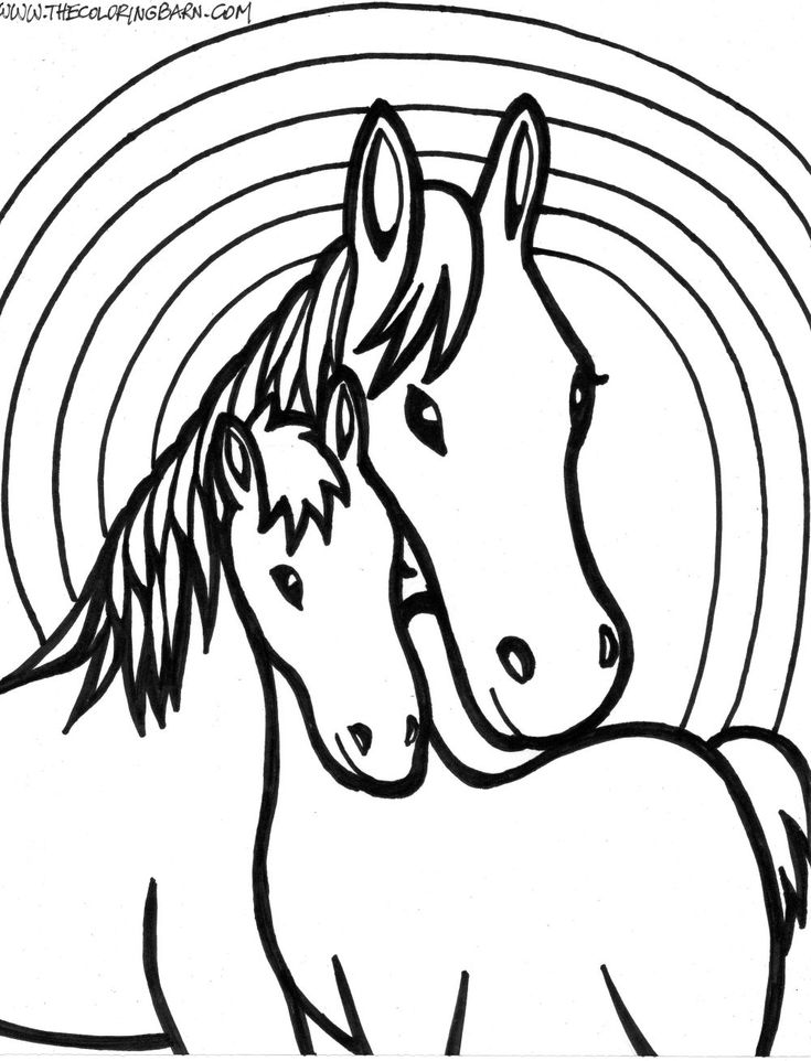 horse coloring pages - Free Large Images | Horse coloring ...