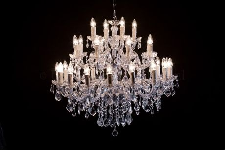Kroonluchter Maria Theresa 28 lichts (chroom)