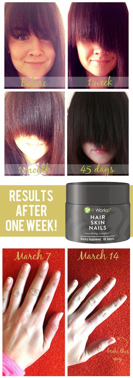 It Works! Hair, Skin and Nails Nourishing Complex via blogger #beautybets #before&after