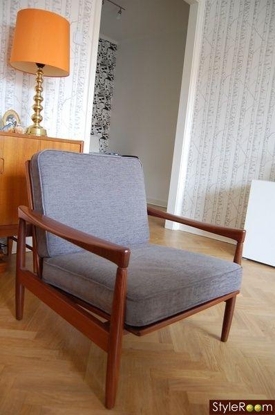 fåtölj,vardagsrum,retro,60-tal,lampa