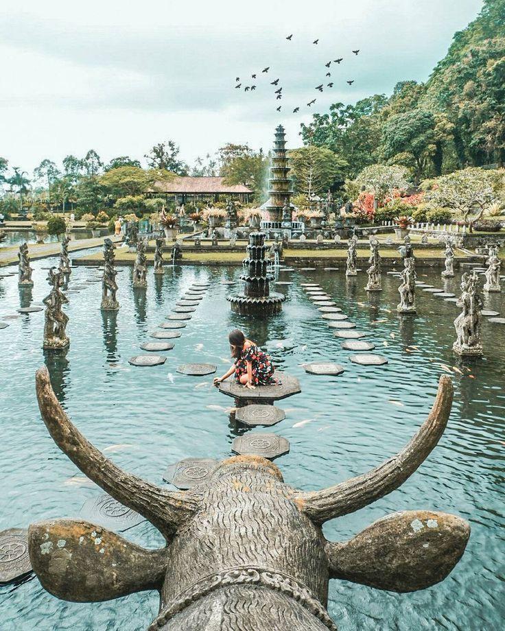 Tirta Gangga is an iconic location in Bali, #Indonesia Photo by: IG @komang_sudana