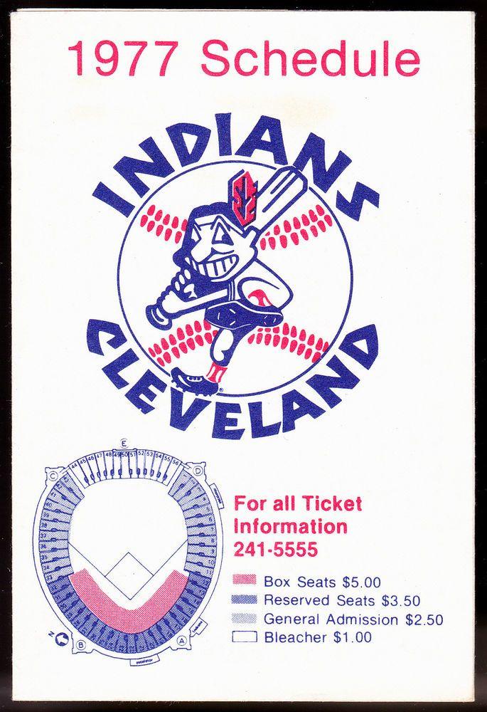 1977 CLEVELAND INDIANS FOREST CITY HOME CENTER BASEBALL POCKET SCHEDULE  #Pocket #Schedule