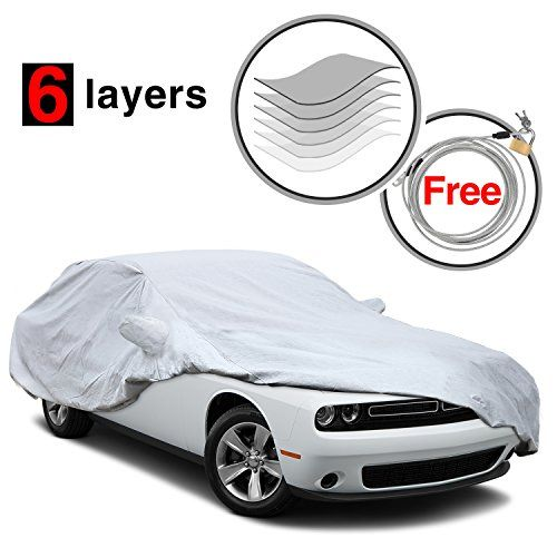 Custom Fit Dodge Challenger 2008-2017 Car Cover, 6 Layers All Weather Waterproof, for Snow, Winter, Car Cover for Dodge Challenger, Free Windproof Ribbon & Anti-theft Lock. For product info go to:  https://www.caraccessoriesonlinemarket.com/custom-fit-dodge-challenger-2008-2017-car-cover-6-layers-all-weather-waterproof-for-snow-winter-car-cover-for-dodge-challenger-free-windproof-ribbon-anti-theft-lock/