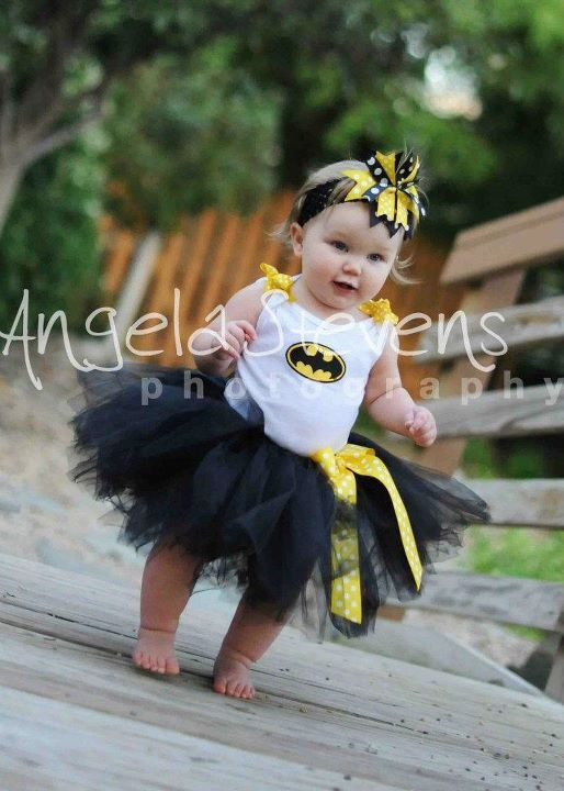 Love this idea...cute little superhero tutu costumes for the. I will have a Batman baby. :)