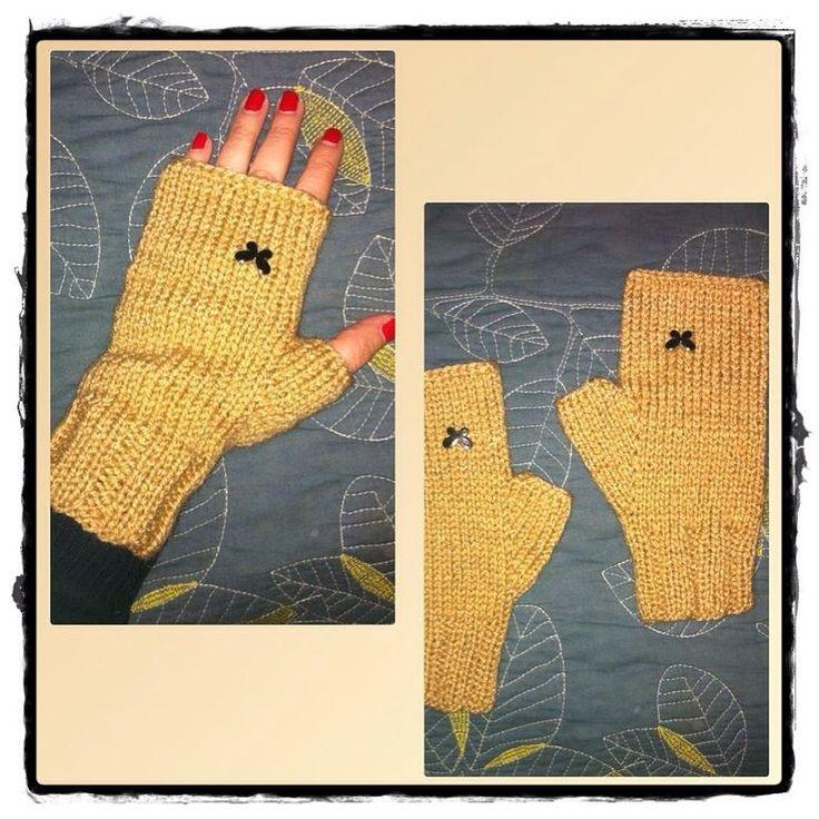 #mitones#lana#wool#tejidos#dosagujas#palillos#hechoamano #handmade#mittens