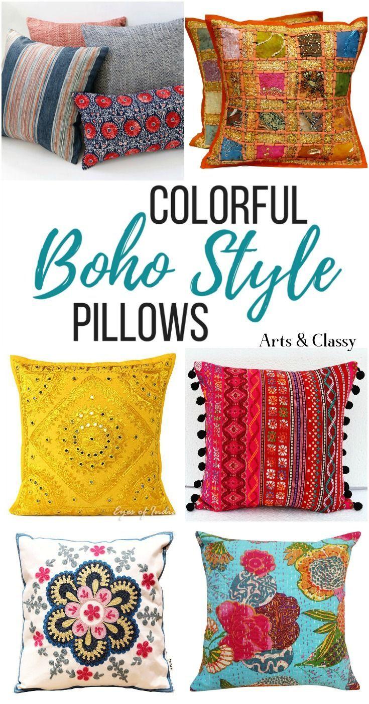 decorative boho accent unique pretty patchwork 16x16.htm boho pillows get the look  without sacrificing your budget for  boho pillows get the look  without