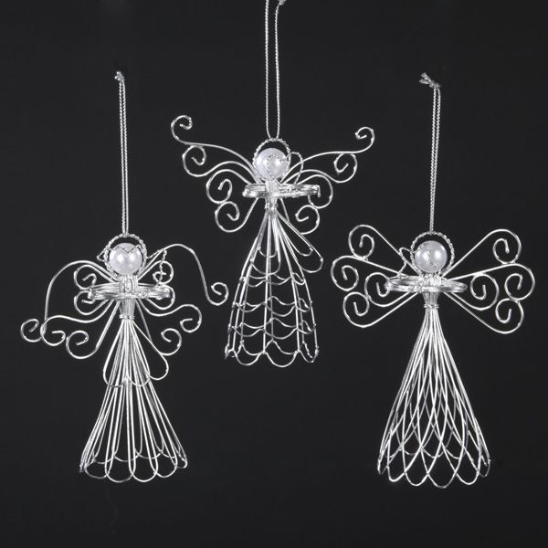 WIRE #ANGEL HANGING #ORNAMENTS  ITEM # D1042 #christmasornaments