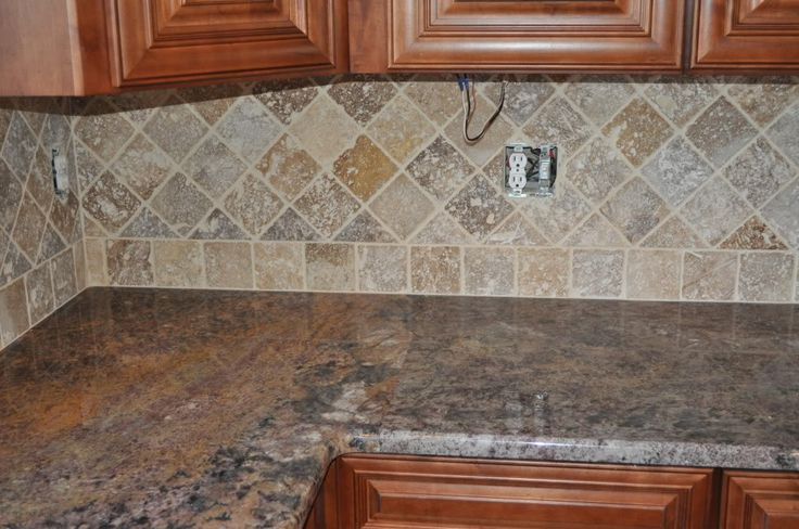 how to paint ceramic tile backsplash to look like stone