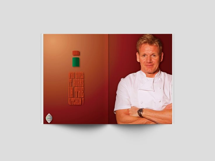 The last of 3 Double page spread magazine ad on Tabasco Sauce, in this assignment, the brief asked to match a suitable personality to compliment a brand. Who better than Gordon Ramsay and Tabasco Sauce?
