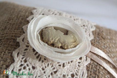 Meska - Vintage gyűrűpárna kámea Aggies kézművestől