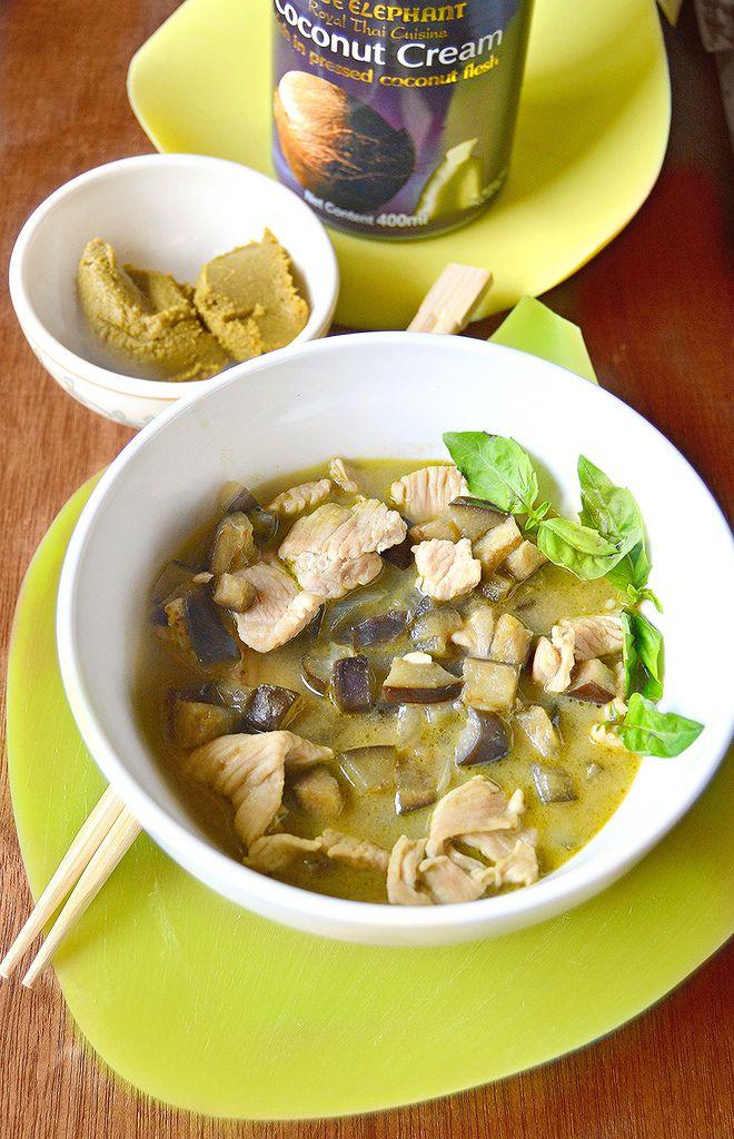 Cucina asiatica-Curry di pollo verde Thai