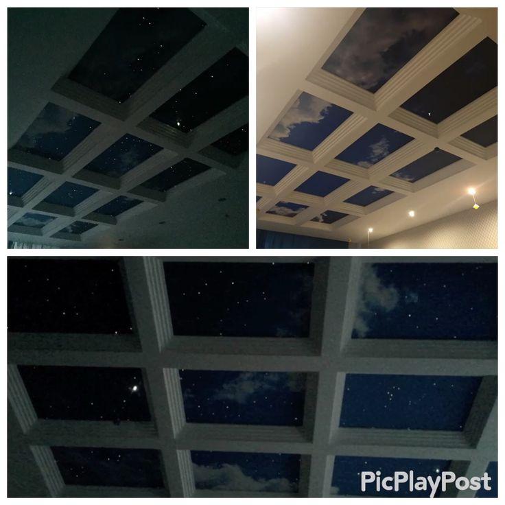 Звездный потолок в детской комнате.