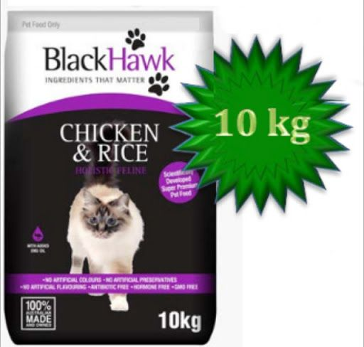 Black Hawk Professional Cat Food is made with special ingredients to ensure your cat stays healthy throughout their life.  www.petusuals.com.au  Pay with Visa, Mastercard, PayPal or BPAY for the order. We deliver or you collect in store.