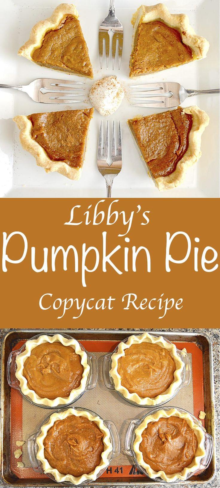 Libby's Pumpkin Pie Copycat Recipe
