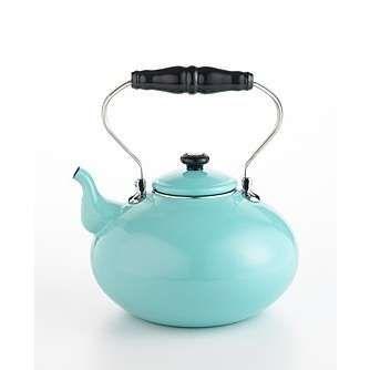 Martha Stewart Collection Blue Enamel on Steel Tea Kettle - Photo