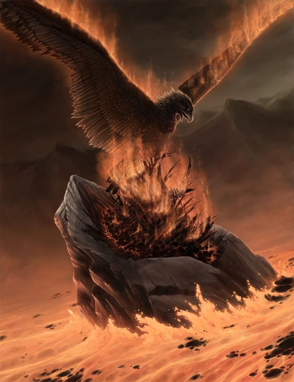 An eagle helped Väinämöinen to burn and clear the land to make it fertile for growing barley and oats.