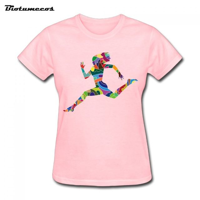 $11.58 Women T Shirts Short Sleeve 100% Cotton Colors Fragments Make Up Girl Printed T-shirt Brand Clothes Tee Top For Lady WTY137