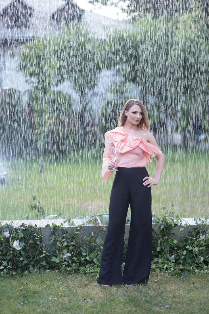Andra Petrescu @Silk Essentials Garden Party ^Ruffled silk organza top