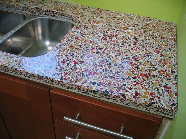 Concrete Countertop   Paintchipdiaries   Jewel Tones Inexpensive Ikea  Cabinets Were Paired With Concrete Countertops To Satisfy Needs Of Both  Luxury And ...