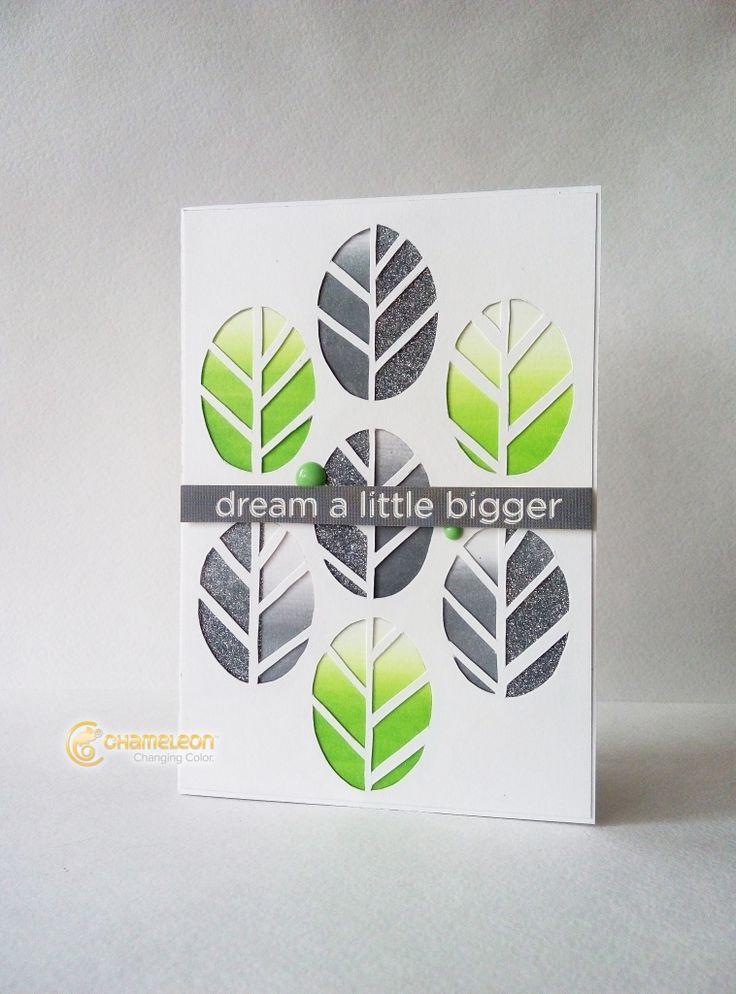 Tutorial para crear una preciosa tarjeta con degradados utilizando tus chamaleon pens