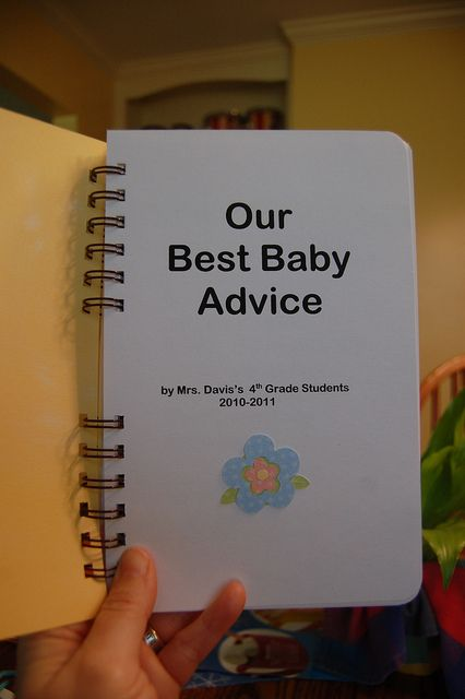 Baby Gift Ideas For Teachers From Students : A book of kids best baby advice cute class gift for